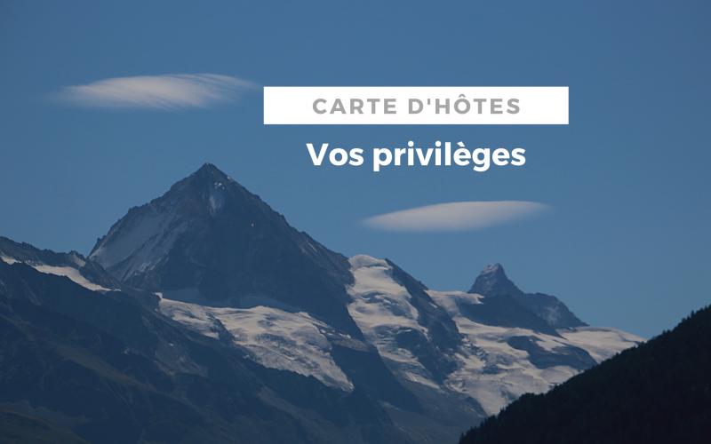 VOS PRIVILEGES  | Carte d'hôtes