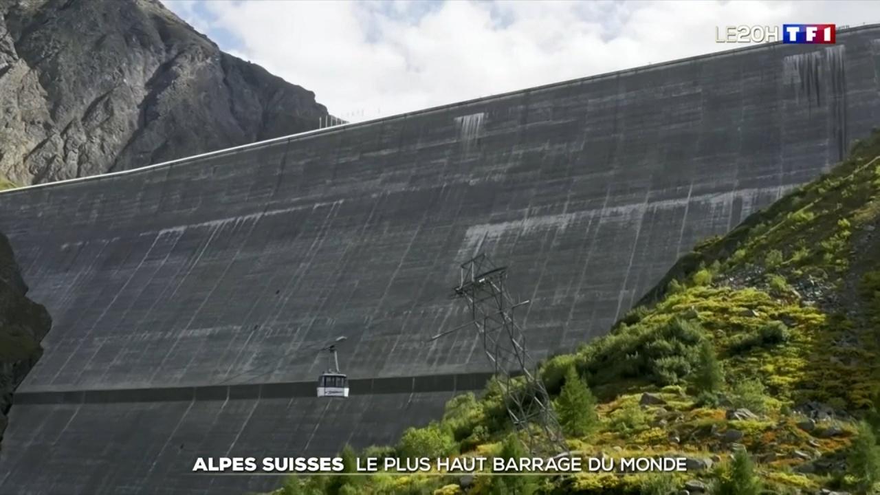 Le Val d'Hérens au 20h00 de TF1 : La Grande Dixence