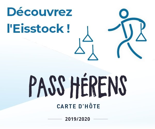 Eisstock at the ice rink of Hérémence