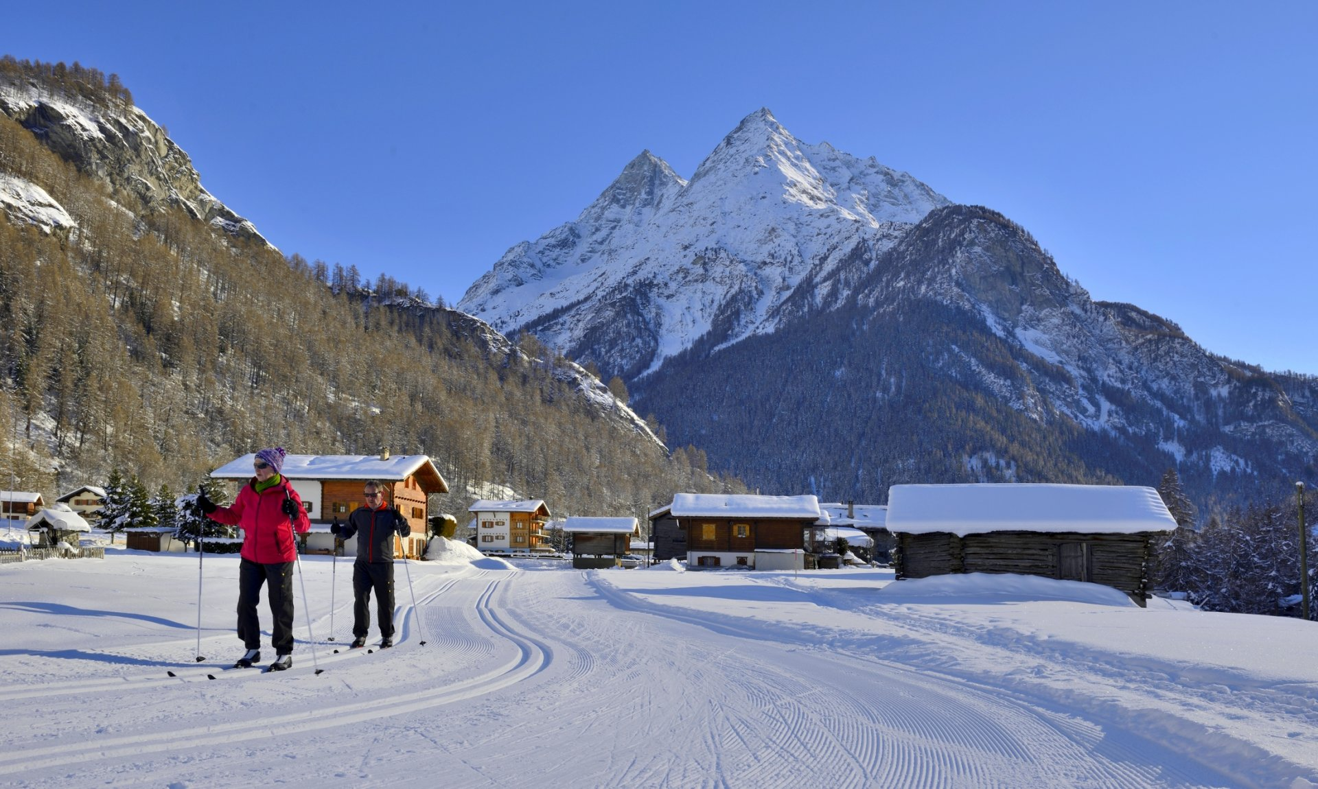 Centre nordique et piste de ski de fond d'Evolène / Les Haudères