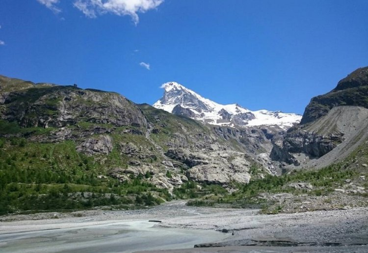 Staudam von Ferpècle - Mont Miné Gletscher