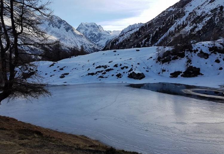 Schneeschuheweg : La Gouille - Le Lac Bleu