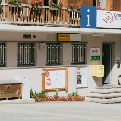 Fremdenverkehrsamt und Postamt Arolla