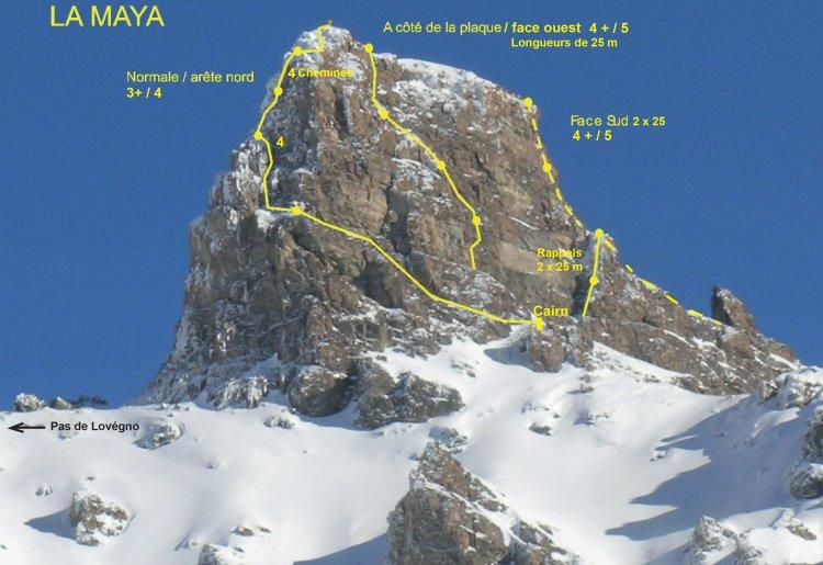 Alpinisme et eslcalade : La Maya