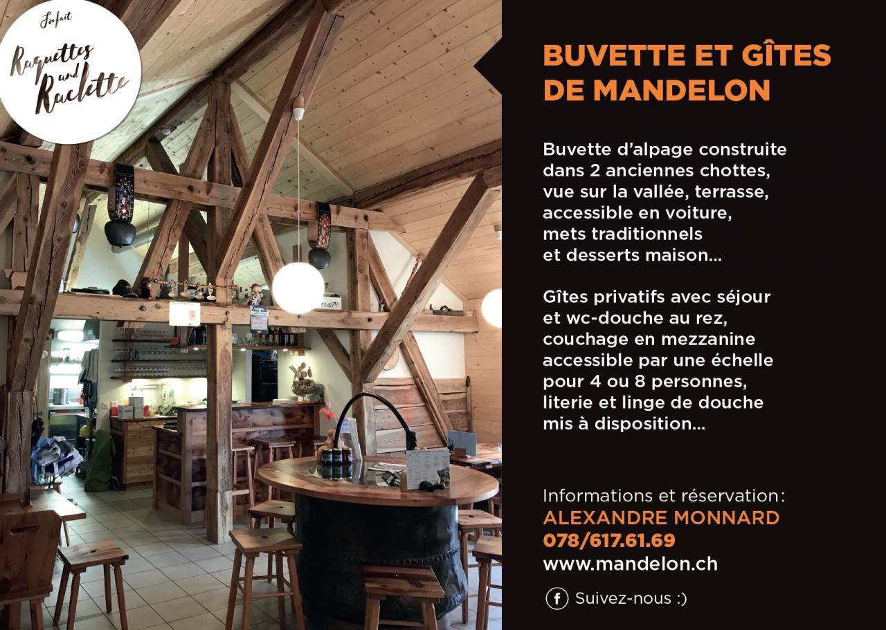Offre 1 nuit + Raquette et Raclette à Mandelon/Hérémence