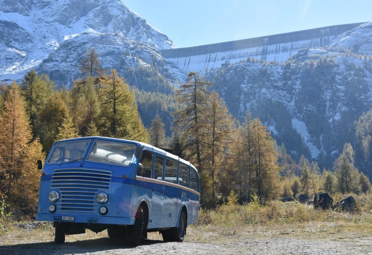Montée et visite HISTORIQUE au barrage de la Grande Dixence