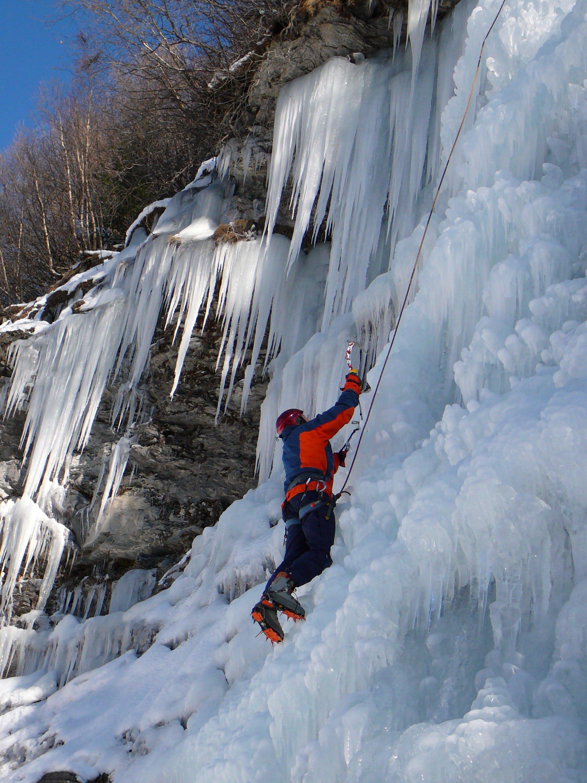 Les cascades de glace du Val d'Hérens