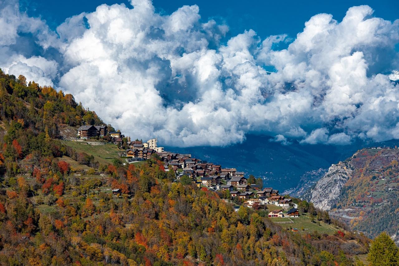Hérémence, village alpin