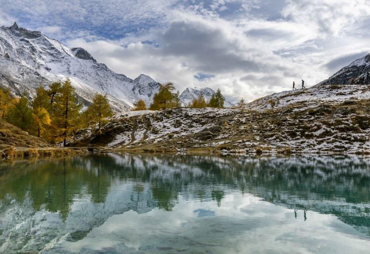 Wanderung am Blausee / Lac Bleu von Arolla